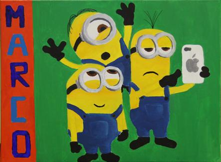 """""""Minions"""". Acrílico sobre lienzo"""